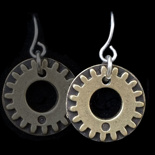 Alchemy Earrings Gears JE1453