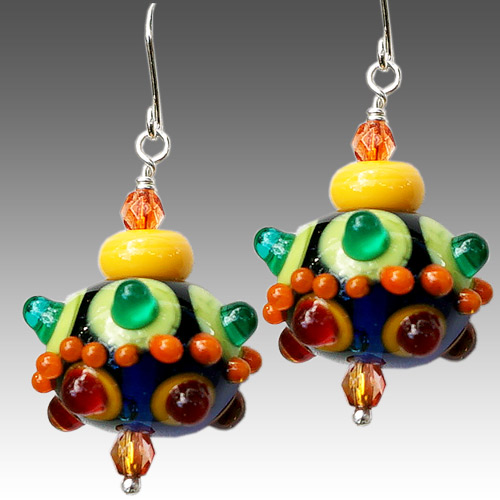 Alicia Niles Earrings Viva Glass Bead JE3333