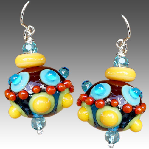 Alicia Niles Earrings Viva Glass Bead JE3360