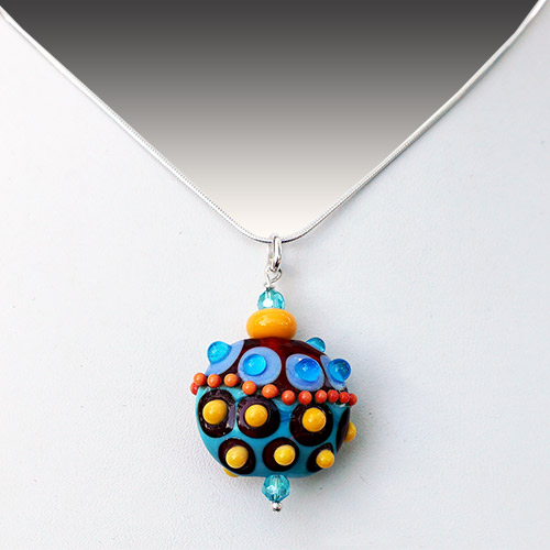 Alicia Niles Necklace Viva Glass Bead Lentil JN2254