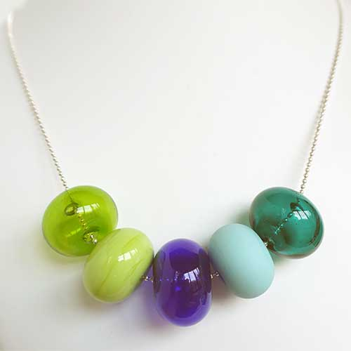 Alicia Niles Necklace Bubble 5 Glass Bead JN2677