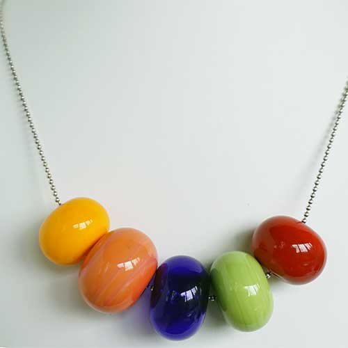Alicia Niles Necklace Bubble 5 Glass Bead JN2678
