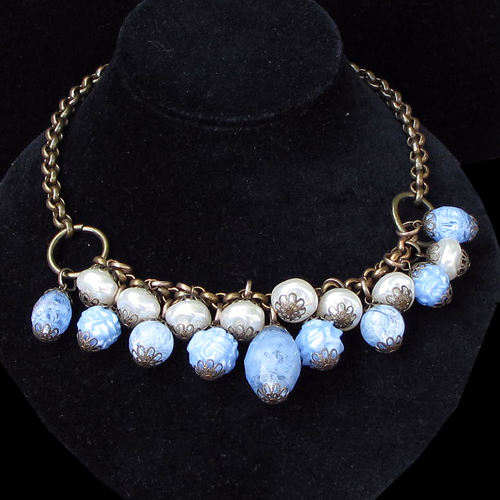 Angel Blue & White Necklace RJN277C