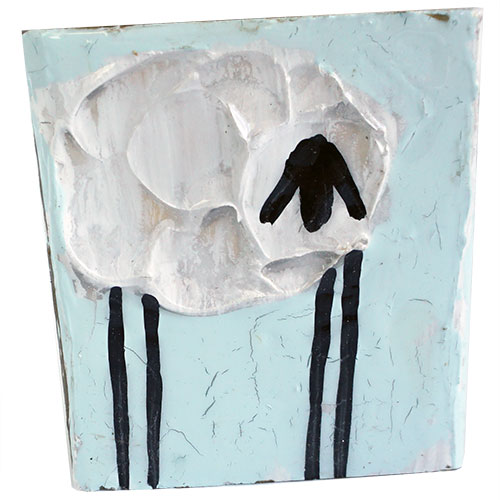 Art by Susan 3.5 x 3.5 Sheep Block WP1153