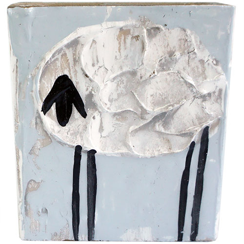 Art by Susan 3.5 x 3.5 Sheep Block WP1154 SOLD
