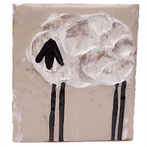 Art by Susan 3.5x4 Sheep Block WP1424
