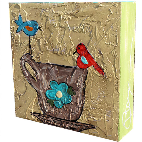 Art by Susan Birds on Cup 12x12 Wood Box WP912