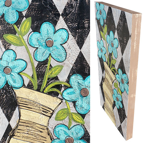 Art by Susan Flowers in Vase 18x36 Wood Box WP913