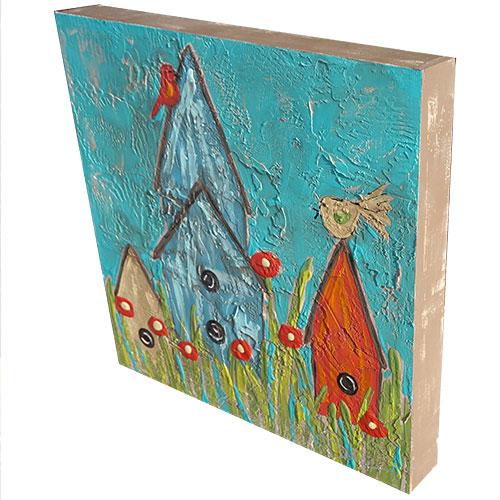 Art by Susan Bird Houses 24x24 Box WP914