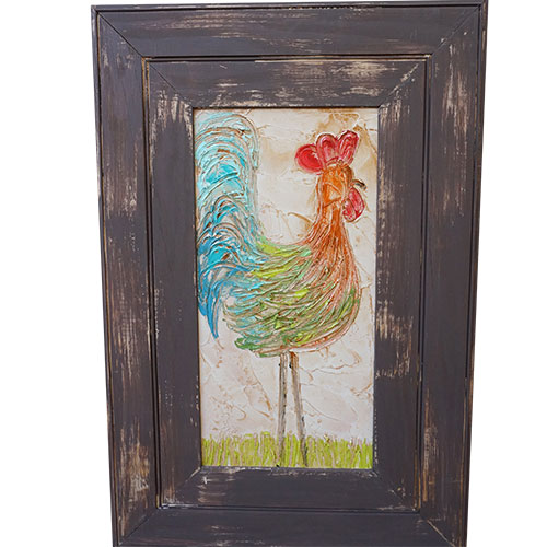 Art by Susan Rooster 20x30 Wood Panel WP949