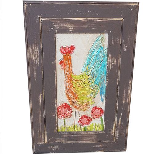 Art by Susan Rooster 20x30 Wood Panel WP950 SOLD
