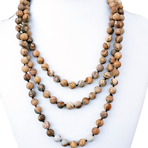 "Aurora Necklace 64"" Strand Picture Jasper JN2202"