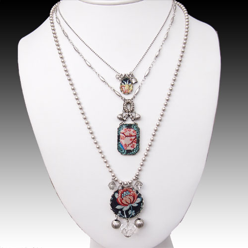 Ayala Bar Sangria Triple Chain Necklace JN1372 SOLD