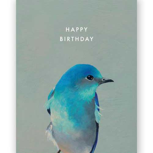 Birthday Card Bird Blue 3039mbb