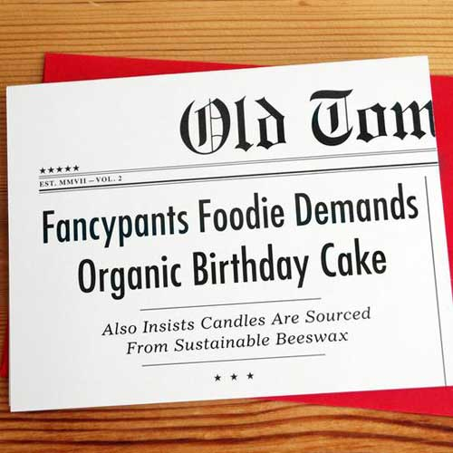 Birthday Card Headline Foodie H44
