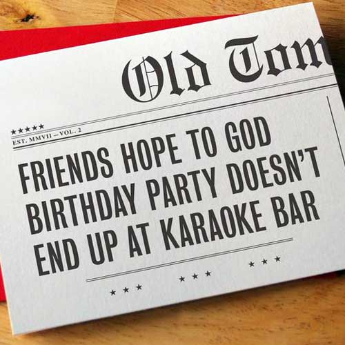 Birthday Card Headlines Karaoke H08