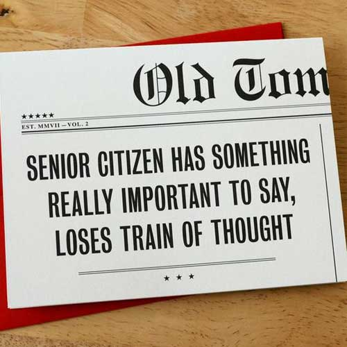 Birthday Card Headline Senior H18