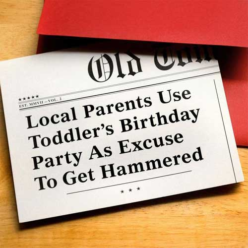 Birthday Card Headline Toddler H31