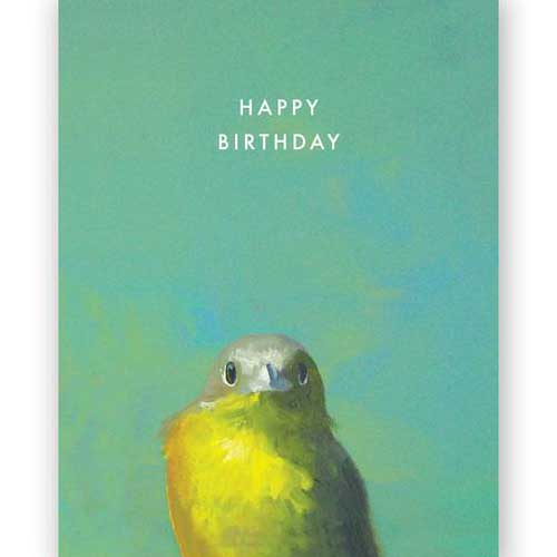 Birthday Card Bird Yellow 3036ybd