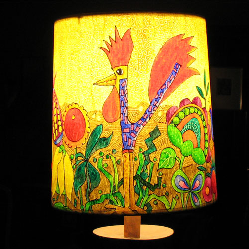 Bercowski Rooster Shade FL173 SOLD