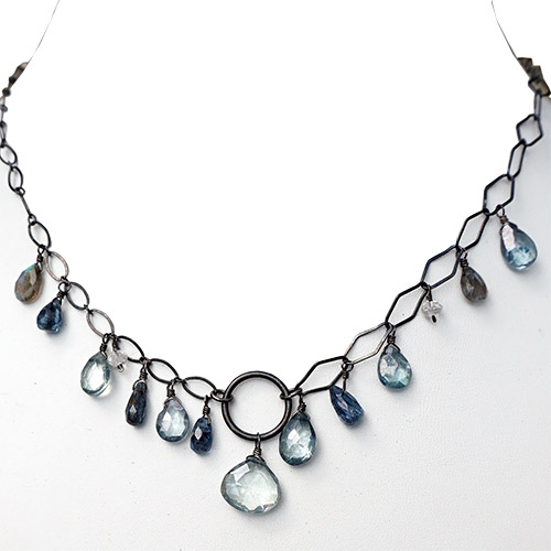 Calliope Necklace Kyanite, Labradorite & Green Quartz JN2298