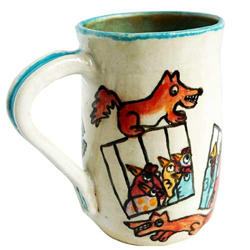 Carolyn Simmons Chicken Mug DP1626 SOLD