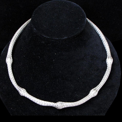 Cavender Necklace Woven Tube JN607 SOLD