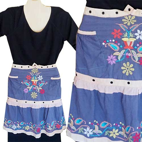 Chichi Rose Upcycled Apron BG20