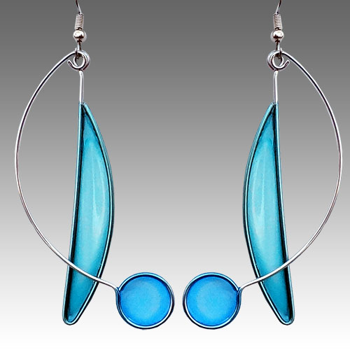 Christopher Royal Steel & Resin Earrings JE2358 SOLD