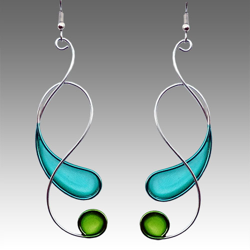 Christopher Royal Steel & Resin Earrings JE2360 SOLD