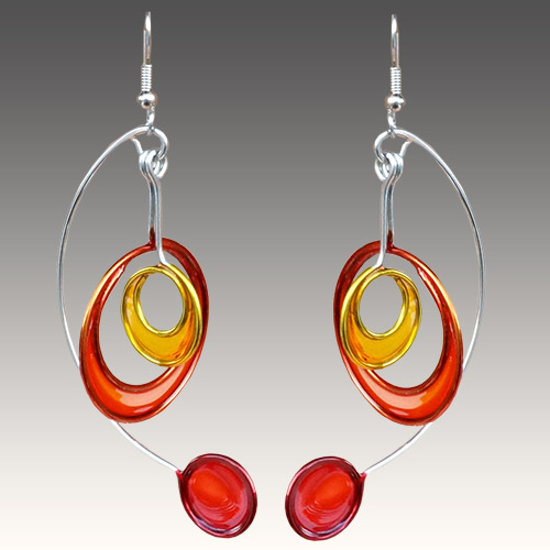 Christopher Royal Steel & Resin Mobile Earrings JE3021