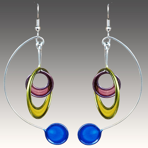 Christopher Royal Steel & Resin Mobile Earrings JE3023 SOLD