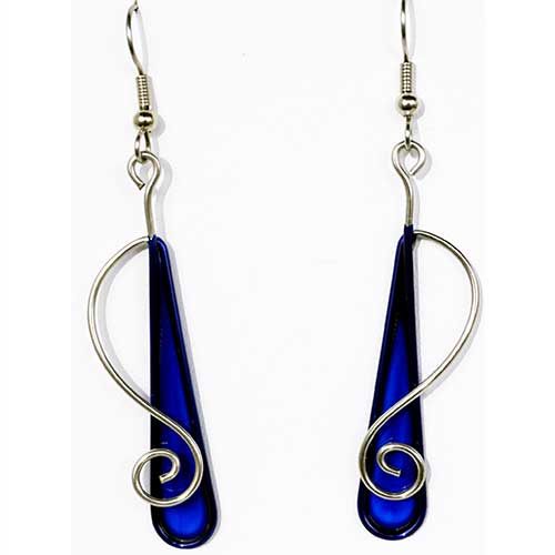 Christopher Royal Steel & Resin Teardrop ERs JE3831