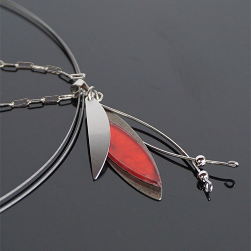 Christophe Poly Necklace Acrylic Spear JN2215