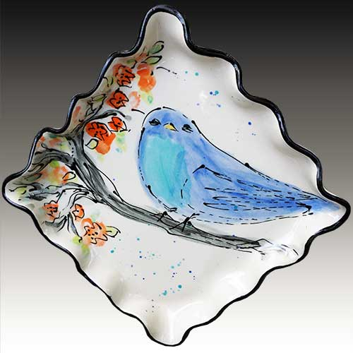 "Teyros Tabletop 7"" Square Dessert Plate Bluebird DP1425 DS"
