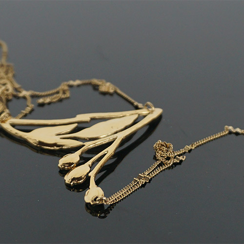 Clément Djossou Necklace Leaves II Gold JN2257