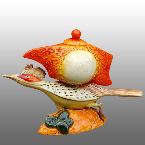 "DaNisha Roadrunner ""Dash"" Lidded Sculpture DP1018"