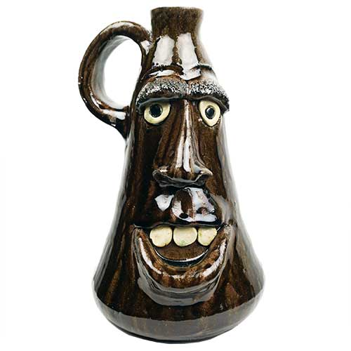 "Dal Burtchaell 10"" Face Jug Brown DP1855"