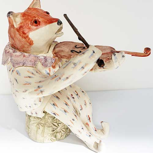 Debby Freed Fiddle Playing Animal - Fox DP1524