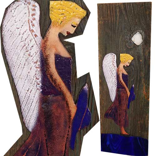 Denny Maloney 8 x 24 Old Wood Angel WP1311
