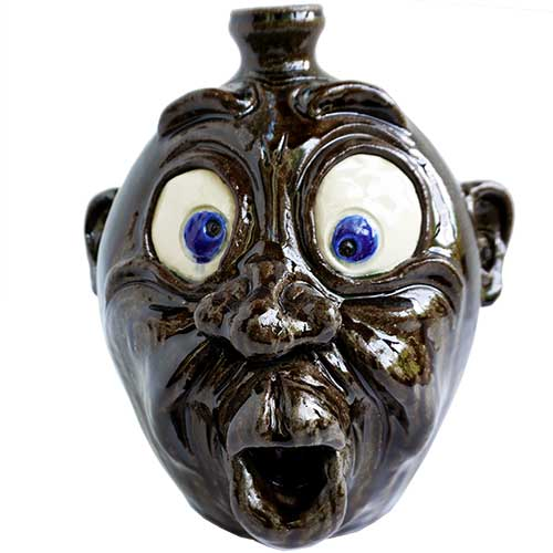"Dwayne Crocker Face Jug 9"" DP1678"