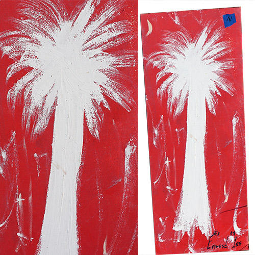 Ernest Lee 12x30 Palmetto Tree Panel OP312
