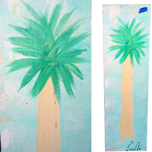 Ernest Lee 9x29 Palmetto Tree Panel OP320
