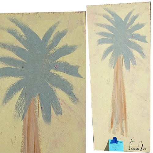 Ernest Lee 12x30 Palmetto Tree Panel OP321 SOLD