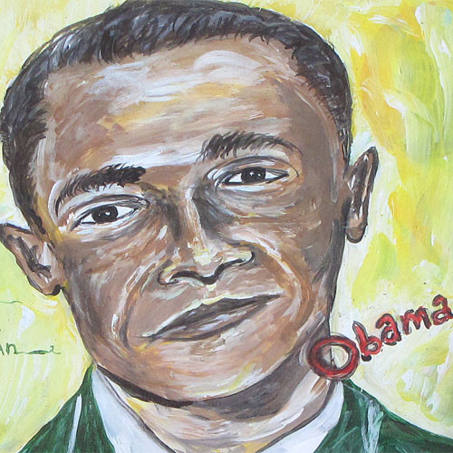 Ernest Lee Framed Obama 20x26 OP39