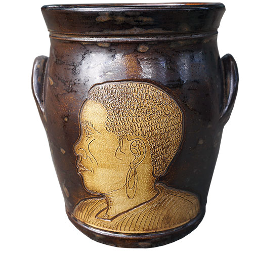 Eugene Etched Faces Spoon Jar DP1539
