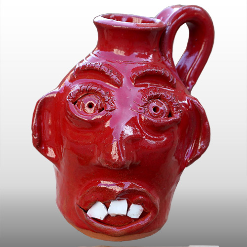 Jamie Ferguson Face Jug Red DP1362