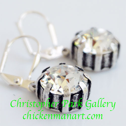 French Kande Earrings Swarovski TL348