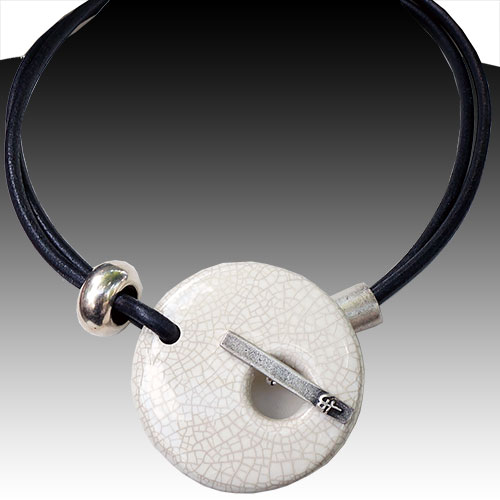 Henriot Colombo Cracked Ivory Necklace JN1809 SOLD