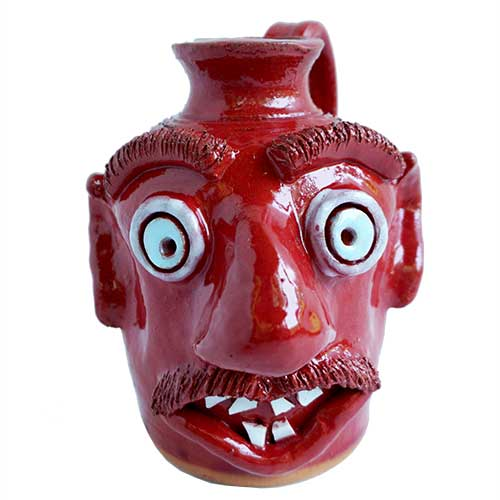 Jamie Ferguson Face Jug Red DP1687